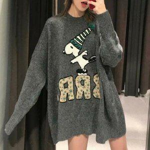 Zara Snoopy Peanuts Jacquard Sweater